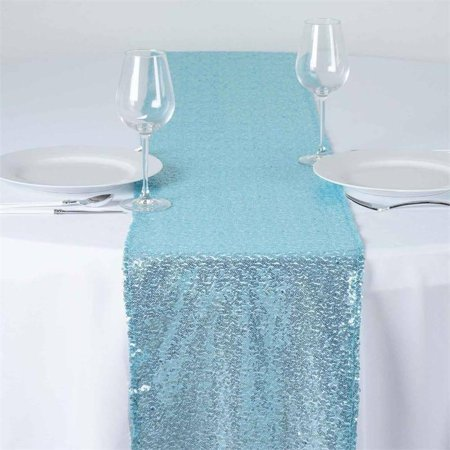 Efavormart Sequin Premium Table Runners For Weddings Birthday Parties Banquets Decor Fit Rectangle and Round - Silver Sequin Table Runner