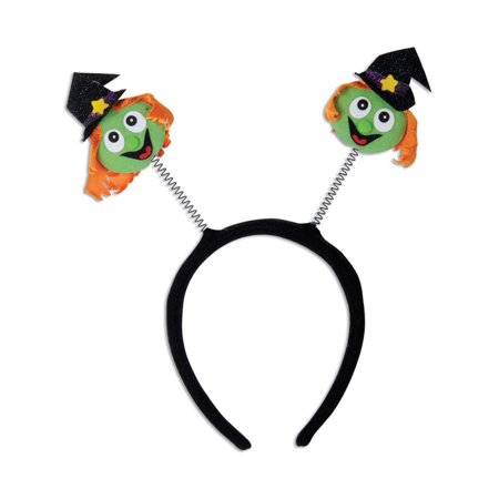 Halloween Bopper Headbands (Halloween Character Bouncy Funny Witch Bopper Headband Costume)