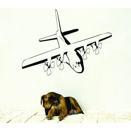- Custom Wall Decal : Flying Airplane Silhouette 20x30