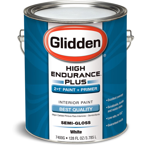 Glidden High Endurance Plus Interior Semi-Gloss, White, 1 Gallon