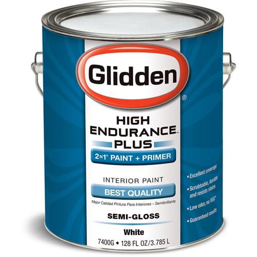 Glidden High Endurance Plus Interior Semi-Gloss, White, 1 Gallon