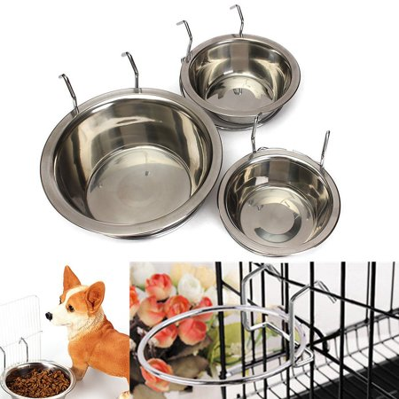 Stainless Steel Coop Cup Fit Water and Feed Bowl Bird Cup with Wire(S)