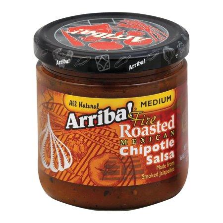 Arriba Fire Roasted Chipotle Salsa - Medium - Pack of 6 - 16 Oz.