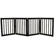 Dynamic Accents 42221 - 27 Inch 4 Panel Free Standing EZ Gate - Mahogany