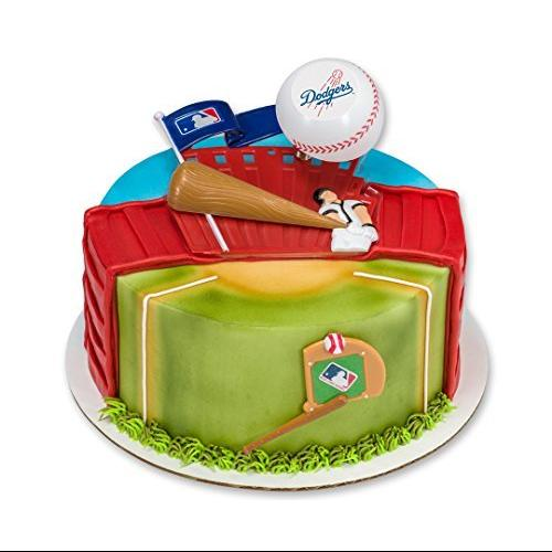 MLB Los Angeles Dodgers Home Run Baseball Cake Topper Decorating Set