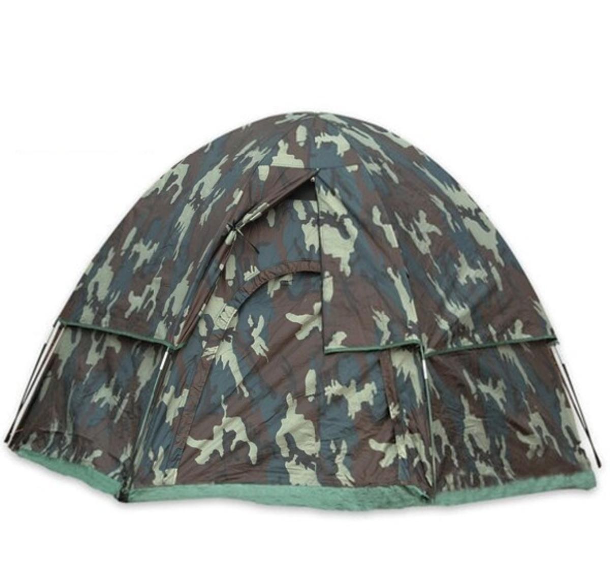 Rothco Woodland Camo 3-Man Hexagon Dome Tent