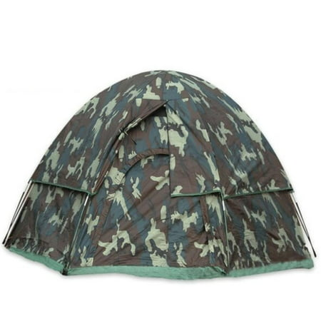 Woodland Camo 3-Man Hexagon Dome Tent - Walmart.com 9d5f1de86d7