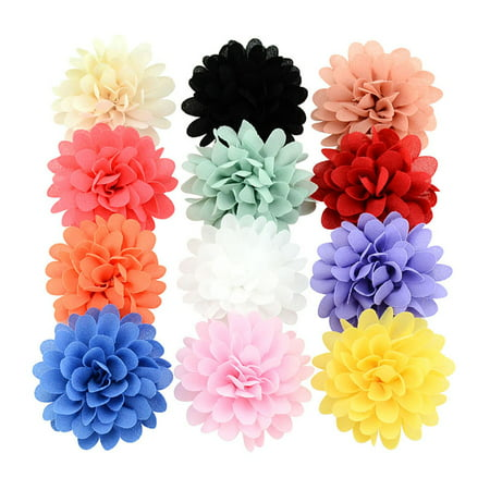 12Pcs Hair Clips, Coxeer Nonwovens Single Layer DIY Handmade Hairpins Hair Barrettes Hair Bows Hair Pins Hair Accessories for Baby Girls Kids Teens Toddlers Children - Cheap Hair Accessories