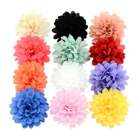12Pcs Hair Clips, Coxeer Nonwovens Single Layer DIY Handmade Hairpins Hair Barrettes Hair Bows Hair Pins Hair Accessories for Baby Girls Kids Teens Toddlers Children](Halloween Fall Hair Bows)