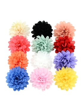 12Pcs Hair Clips, Coxeer Nonwovens Single Layer DIY Handmade Hairpins Hair Barrettes Hair Bows Hair Pins Hair Accessories for Baby Girls Kids Teens Toddlers Children