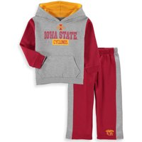 Iowa State Cyclones Colosseum Toddler Back To School Fleece Hoodie And Pant Set - Heathered Gray/Cardinal