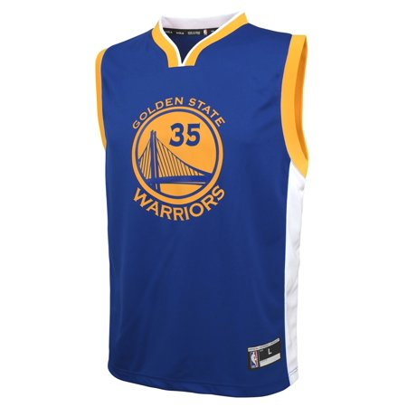 Outerstuff Kevin Durant Golden State Warriors Youth NBA Replica Jersey - Blue for $<!---->