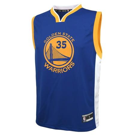 Custom Replica Away Jersey - Outerstuff Kevin Durant Golden State Warriors Youth NBA Replica Jersey - Blue