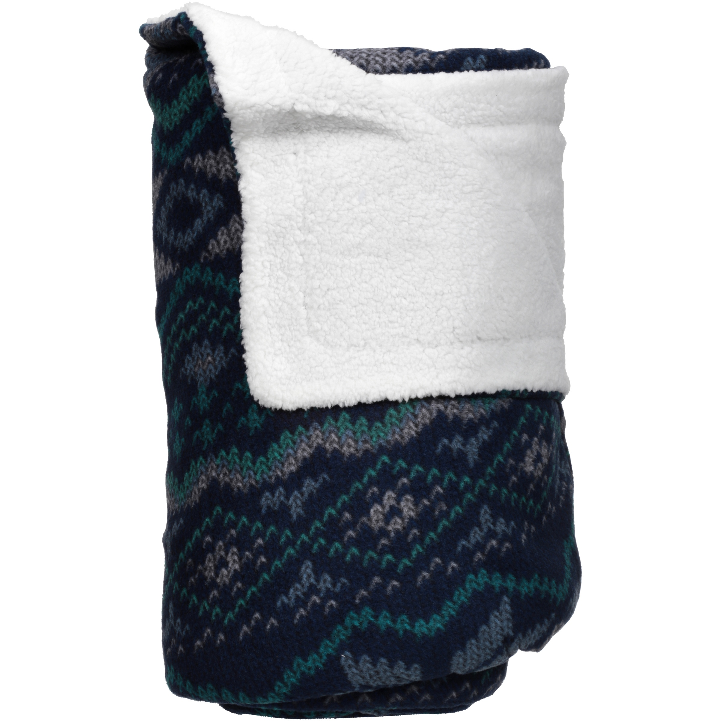 Mainstays Soft & Cozy Fleece to Sherpa Throw Blanket