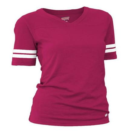 Cotton Football Shirts (Soffe 239V601XSM Juniors Football Tissue Cotton Tee T-Shirts, Cardinal - Extra Small)
