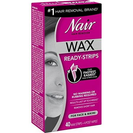 3 Pack - Nair Hair Remover Wax Ready Strips 40 ea
