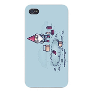 "Apple iPhone Custom Case 4 4S White Plastic Snap On - ""I Hate Fishing"" Gnome & Dynamite Humor"