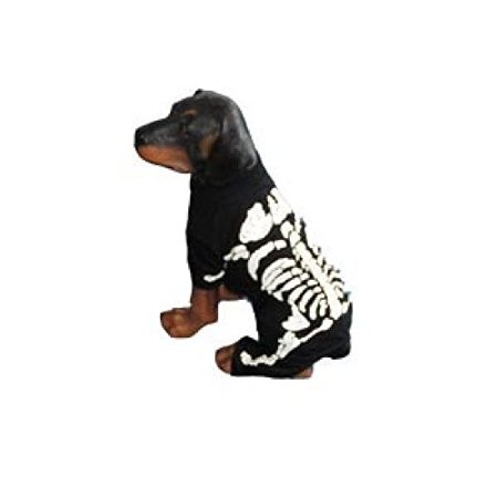 Dog Costume SKELETON BONES WHITE COSTUMES Glow in the Dark Dogs(Size 0) - Skeleton Dog Costume