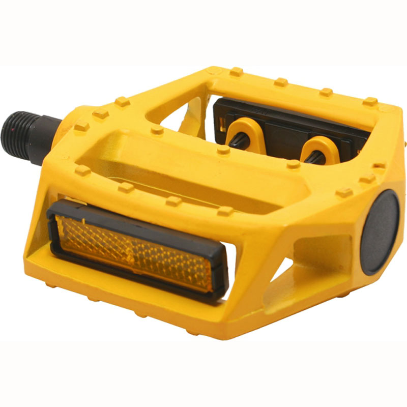 Bicycle Pedal With Reflector Paint Yellow Bike Pedals