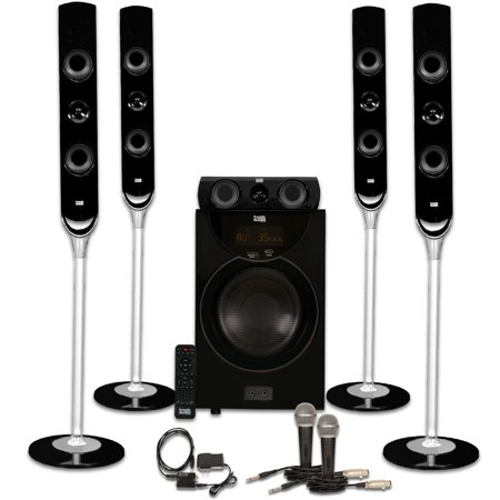 Acoustic Audio AAT2000 Tower 5.1 Home Theater Bluetooth Speaker System with Optical Input
