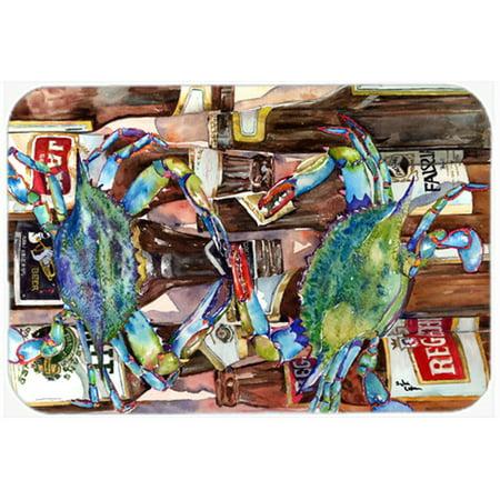 Carolines Treasures Crab New Orleans Beer Bottles Glass Cutting Board