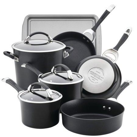 Circulon  Symmetry Hard Anodized Nonstick 9pc Cookware Set plus Bonus Circulon Hard Anodized Cookware