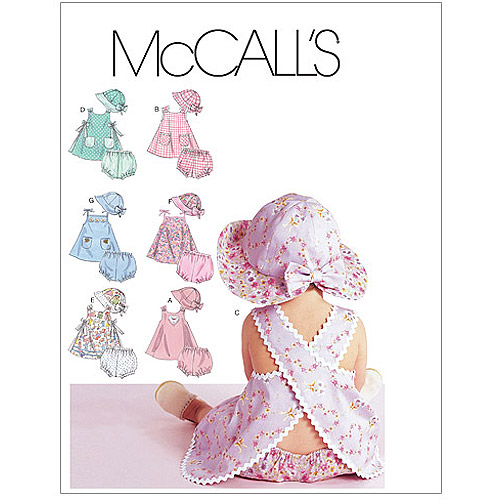 McCall's Pattern Infants' Dresses, Panties and Hat, All Sizes in 1 Envelope