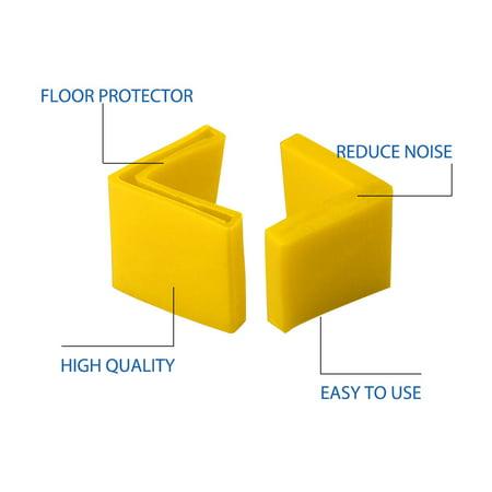 40mm x 40mm Angle Iron Foot Pad L Shaped PVC Leg Cap Desk Protector Yellow 14pcs - image 6 de 7