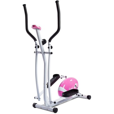 Sunny Health   Fitness P8300 Pink Magnetic Elliptical Trainer Elliptical Machine W  Lcd Monitor