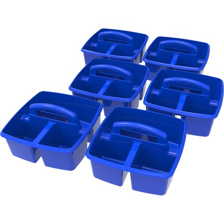 Storex Industries Classroom Art and Supplies Caddy, Multiple Colors, 6 Units Per Pack (Teachers Store)