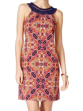 cca0d1d1b6a3b Product Image Jessica Howard NEW Orange Women's Size 10 Damascus-Print Sheath  Dress