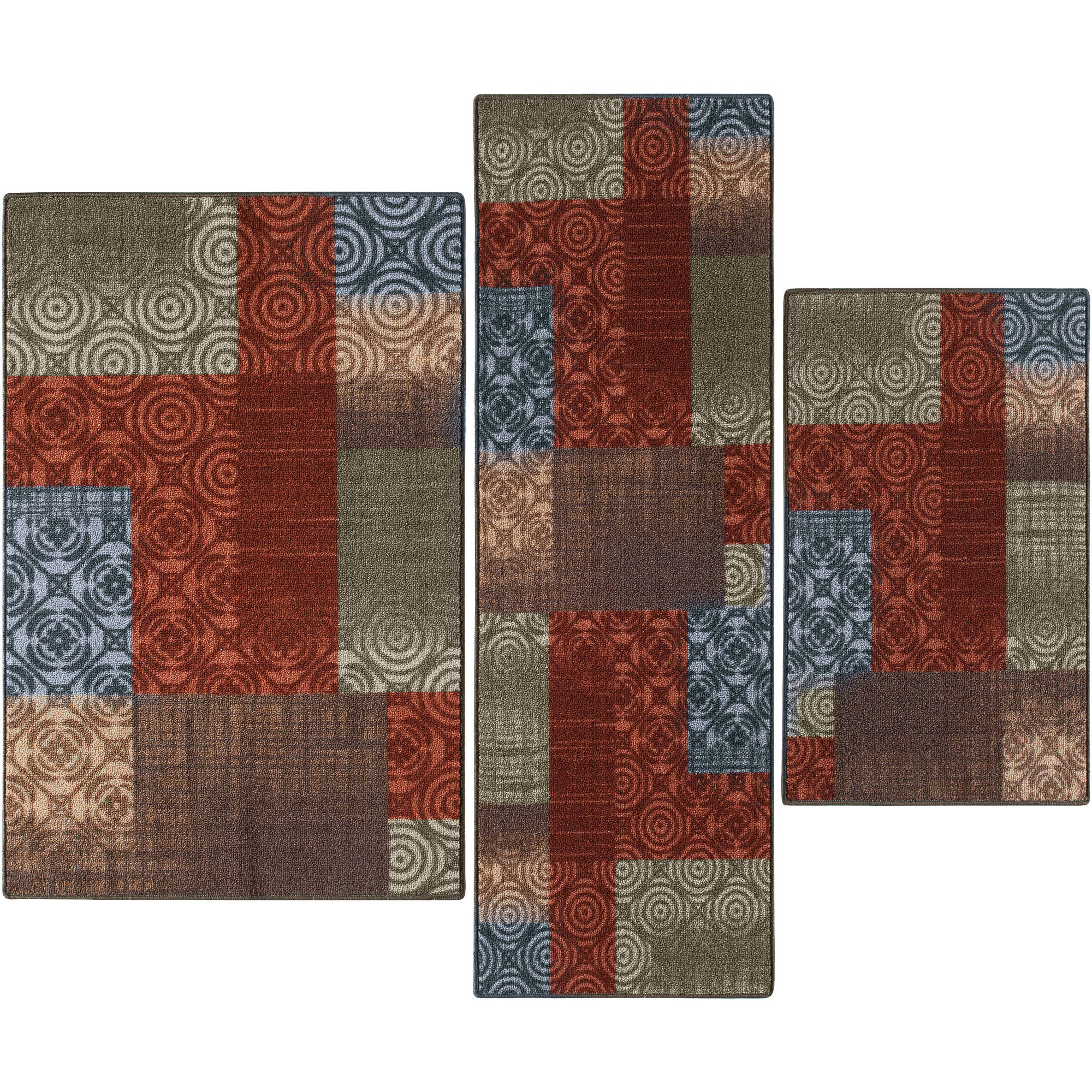 Mainstays Payton 3-Piece Accent Rug Set