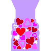 HEARTS FAVOR BAGS, 20 CT