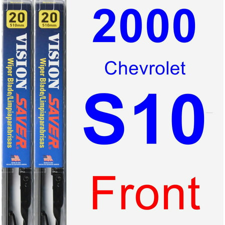 2000 Chevrolet S10 Wiper Blade Set/Kit (Front) (2 Blades) - Vision Saver Chevy S10 S10 Wiper