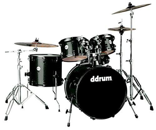 ddrum Journeyman 5-Piece Drumset w  Hardware Black Sparkle by Armadillo