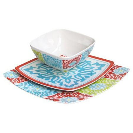 Waverly Sweet Things Capri Melamine Dinnerware Set - 12 pc ...