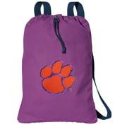 Canvas Clemson Drawstring Bag Cotton Clemson University Backpack