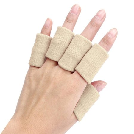 Breathable Elastic Thumb Finger Sleeves for Basketball Volleyball Tennis - 10 Pieces ()