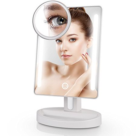 Lighted Makeup Mirror 15x Mugeek Vidalondon