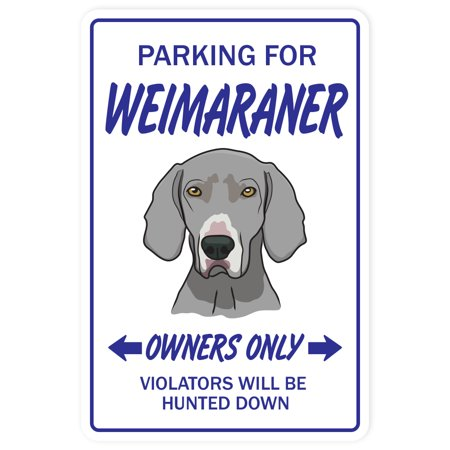WEIMARANER Decal dog pet parking Decals vet boarding | Indoor/Outdoor | 5