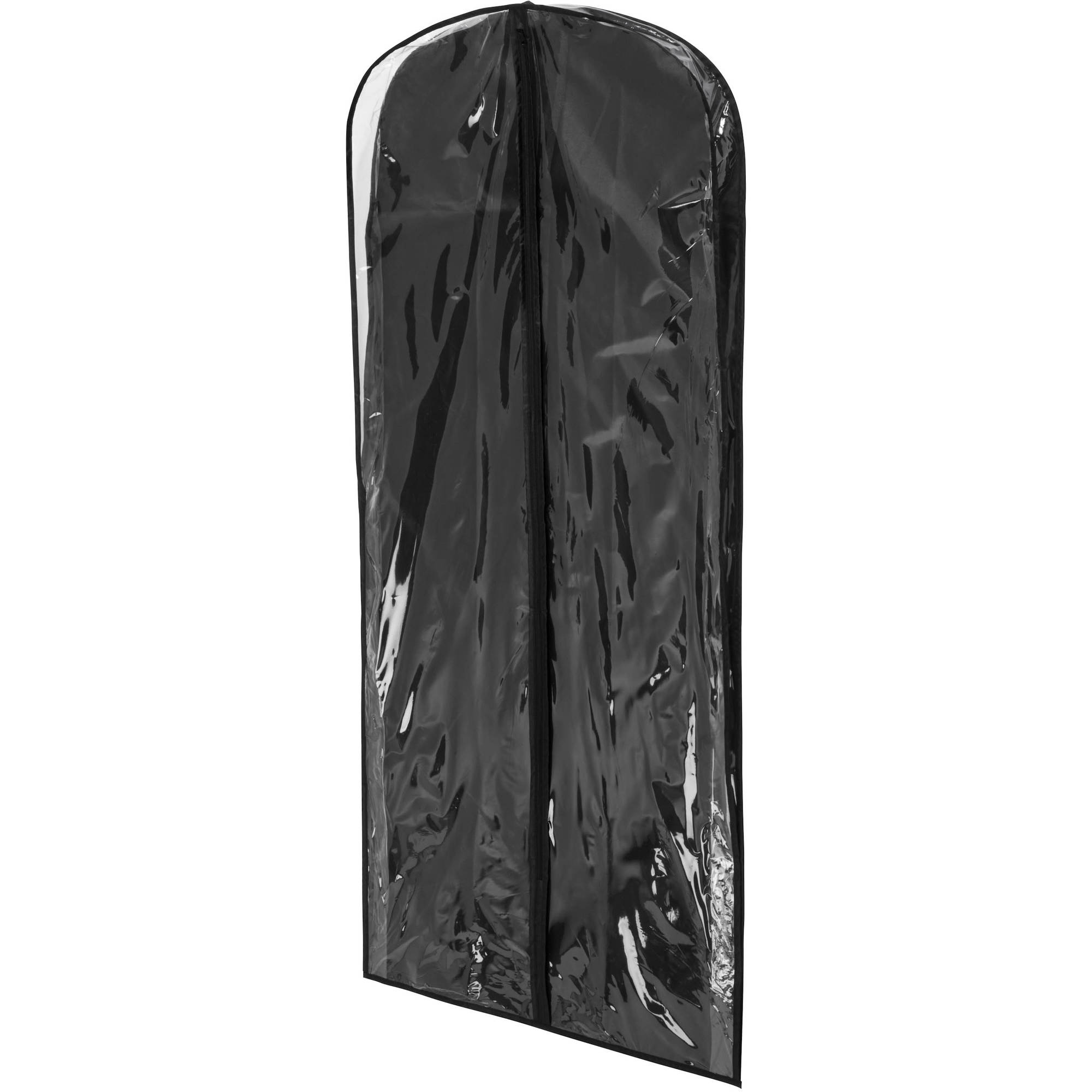 Honey Can Do Polyester Dress Bag, Black/Clear (Pack of 2)