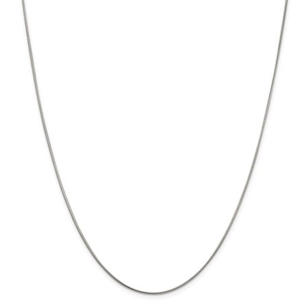 Solid 925 Sterling Silver 1mm Round Snake Chain Necklace 16