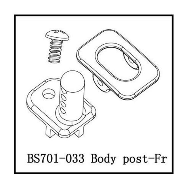 Redcat Racing BS701-033 Body Post - For All Redcat RC Racing Vehicles