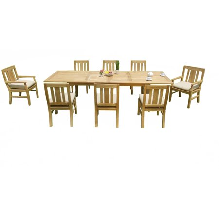 (9 PC A Grade Outdoor Patio Teak Dining Set - 117