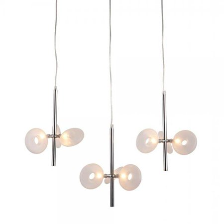 Modern Contemporary Ceiling Lamp, Chrome Frosted -
