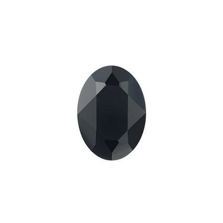 Swarovski Crystal, #4120 Oval Fancy Stones 8x6mm, 2 Pieces, Jet (8x6mm Stone)