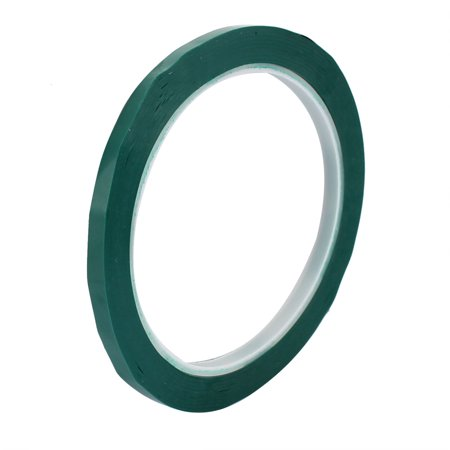 - 5mm Single Sided Strong Self Adhesive Mylar Tape 50M Long Flame Retardant Green