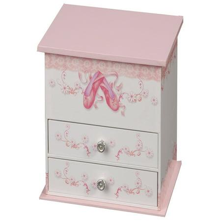 Mele & Co. Angel Musical Dancing Ballerina Jewelry Box - 7W x 6.3H in. (Angel Silver Jewelry Box)