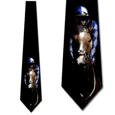 Horse Racing Ties Mens Equestrian Jockey Necktie by Three Rooker
