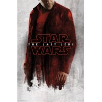 Star Wars: The Last Jedi - Red Poe Poster and Poster Mount Bundle